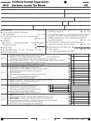 Form 109 - California Exempt Organization Business Income Tax Return - 2016