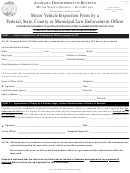 Form Mvt 5-10 - Motor Vehicle Inspection Form By A Federal, State, County Or Municipal Law Enforcement Officer