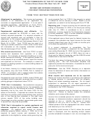 Form Tc201 Instructions For 2004 - Income And Expense Schedule For Rent Producing Properties - The Tax Commission Of The City Of New York