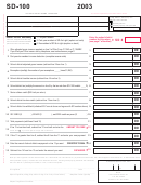 Form Sd-100 - School District Income Tax Return - 2003