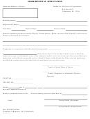 Form Cr2e005 - Mark Renewal Application Form - 2001