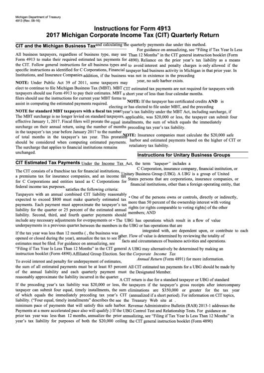 company tax return instructions 2017