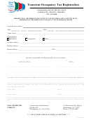 Transient Occupancy Tax Registration Form - James City County - 2013