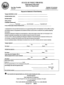Request For Statement Of Good Standing - West Virginia Department Of Revenue