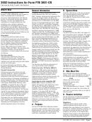Instructions For Form Ftb 3801-cr - Passive Activity Credit Limitations - 2002