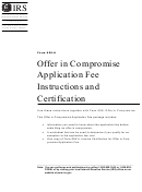 Instruction For Form 656-a - Offer In Compromise Application Fee