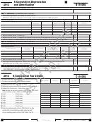 California Schedule B (100s) Draft - S Corporation Depreciation And Amortization/california Schedule D (100s) Draft - S Corporation Capital Gains And Losses And Built-in Gains/etc. - 2013