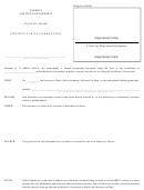 Form Mlpa-17a - Certificate Of Correction - Maine Secretary Of State