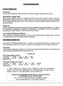 Tax Information - City Of Buenaventura