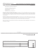 Form F - Iowa Franchise Tax Payment Voucher For Financial Institutions - Iowa Department Of Revenue - 2011