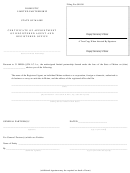 Form Mlpa-3c - Certificate Of Appointment Of Registered Agent And Registered Office - Maine Secretary Of State