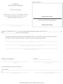 Form Mlpa-3d - Certificate Of Confirmation Of Registered Agent And Registered Office - Maine Secretary Of State