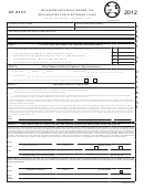 Form De-8453 - Delaware Individual Income Tax - Declaration For Electronic Filing - 2012