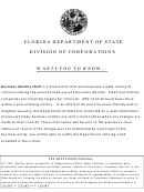 Articles Of Revocation Of Dissolution Form - Florida Department Of State - Division Of Corporations - 2012
