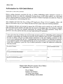 Form 3120 - Authorization For Ach Debit Method - City Of Albion