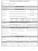 Purchasing Card Cardholder Account Form