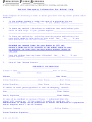 Form H-18 - Medical Emergency Information For School Trip - 2013