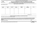 Form 2751 - Proposed Assessment Of Trust Fund Recovery Penalty - 1998