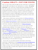 Publication 535 Draft - Business Expenses - 2013