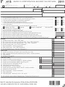 Form 41s - Idaho S Corporation Income Tax Return - 2011, Form Id K-1 - Partner's, Shareholder's, Or Beneficiary's Share Of Idaho Adjustments, Credits, Etc. - 2011