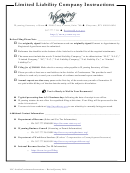 Limited Liability Company Instructions - Wyoming Secretary Of State