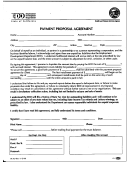 Form De 927 - Payment Proposal Agreement - Employment Development Department - 1999