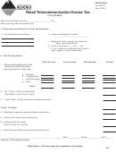 Form Rtet - Retail Telecommunication Excise Tax - Montana