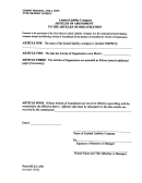 Form Dllc-am - Articles Of Amendment To The Articles Of Organization For A Limited Liability Company
