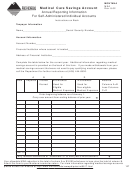 Form Msa - Annual Reporting Information For Self-administered Individual Accounts