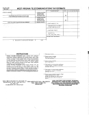 Form Wv/tel-500 - West Virginia Telecommunications Tax Estimate