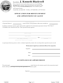 Form 108-ren - Application For Reinstatement And Appointment Of Agent