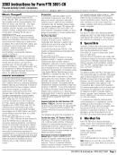 Instructions For Form Ftb 3801-cr - Passive Activity Credit Limitations - California Franchise Tax Board - 2003