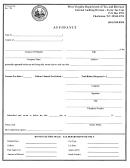 Form Wv/gas-118 - Affidavit - West Virginia Department Of Tax And Revenue