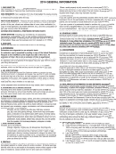 General Instructions - Income Tax Return - City Of Springfield - 2014