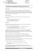Form Tb-it-215 - Individual E-file Mandate For Personal Income Tax