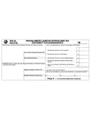 Form Wh-18 - Indiana Mescellaneous Withholding Tax Statement For Nonresident