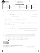 Form Cr-t - Tax Certificate Request