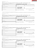 Form 1988 - Insurance Company Quarterly Return For Sbt And Retaliatory Tax - Michigan Department Of Treasury - 2004