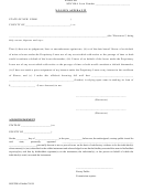 No Lien Affidavit Form