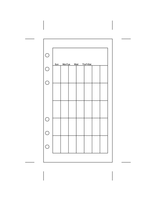 Personal Organizer Monthly Planner Template