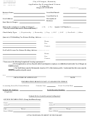 Application For Occupational License - City Of Glasgow - State Of Kentucky
