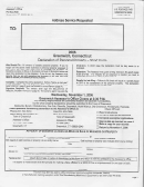 Declaration Of Personal Property (short Form) - Town Of Greenwich Assessor's Office, 2006