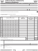 Form 541-t - California Allocation Of Estimated Tax Payments For Beneficiaries - 2011