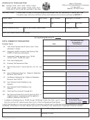 Form Oci 22-800 - Schedule Of Taxes And Fees