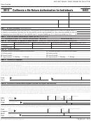 Form 8453 - California E-file Return Authorization For Individuals - 2012