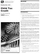 Child Tax Credit Instructions - Department Of The Treasury