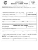 Form Wh-398 - Business Closing Form - South Carolina Department Of Revenue