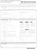 Sport Vessel License (application For Guided Sport Fishing Vessels) - Alaska Commercial Fisheries Entry Comission - 2001