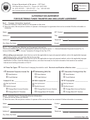 Form Ador 11-2056 - Authorization Agreement For Electronic Funds Transfer And Disclosure Agreement
