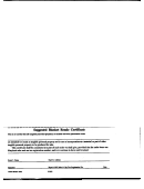 Suggested Blanket Resale Certificate